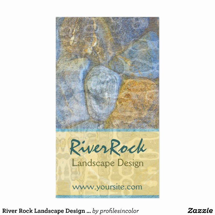Landscape Design Business Cards New River Rock Landscape Design Business Card