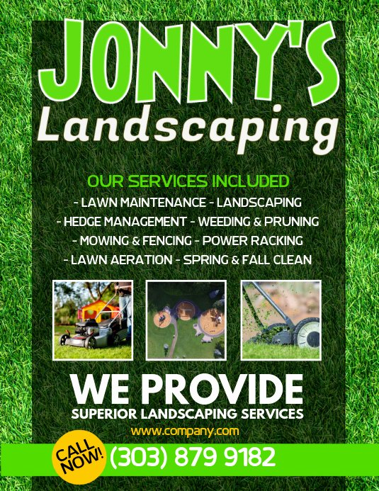 Landscape Flyer Template Free Beautiful Lawn Service Flyer Template