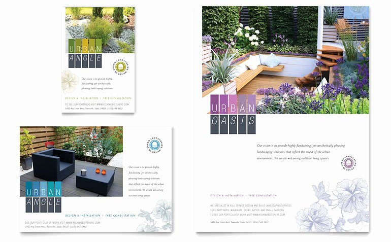 Landscape Flyer Template Free Best Of Urban Landscaping Flyer & Ad Template Word & Publisher
