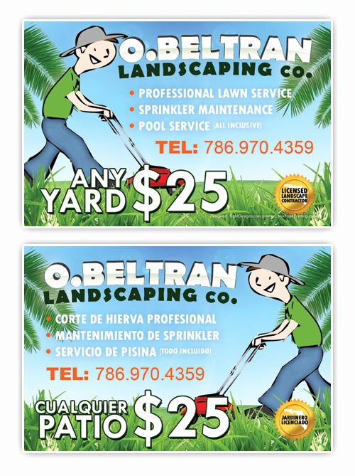 Landscape Flyer Template Free Luxury O Beltran Landscaping Co Promotional Flyer Design