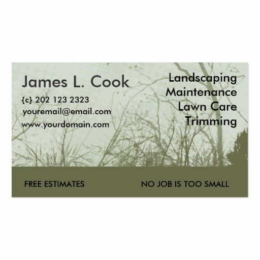 Landscaping Business Card Template Awesome Green Landscaping Lawn Care Mowing Business Card Template