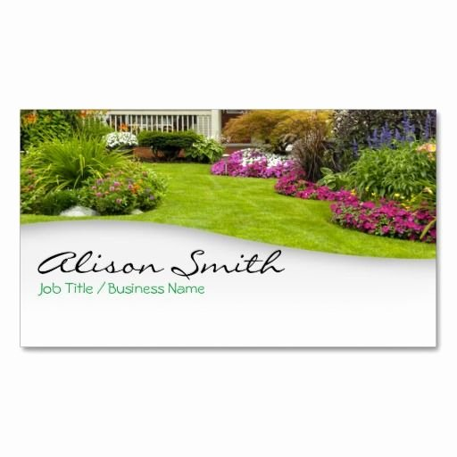 Landscaping Business Card Template Awesome Landscaping Business Card Zazzle