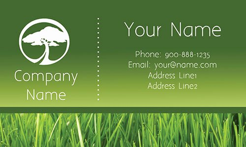 Landscaping Business Card Template Beautiful Tree Care Gray Business Card Design