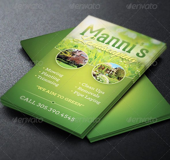 Landscaping Business Card Template Best Of Landscaping Business Card Template