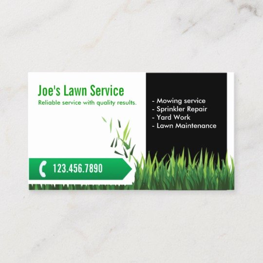Landscaping Business Card Template Best Of Lawn Care Landscaping Professional Mowing Business Card