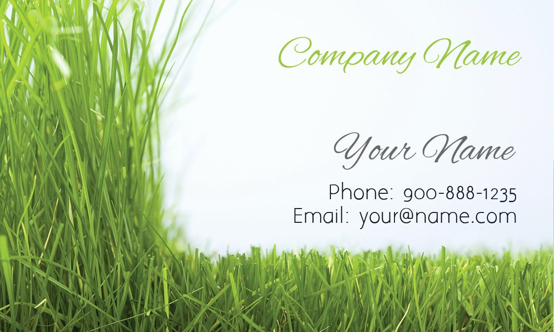 Landscaping Business Card Template Fresh Grass Gardener Business Card Design