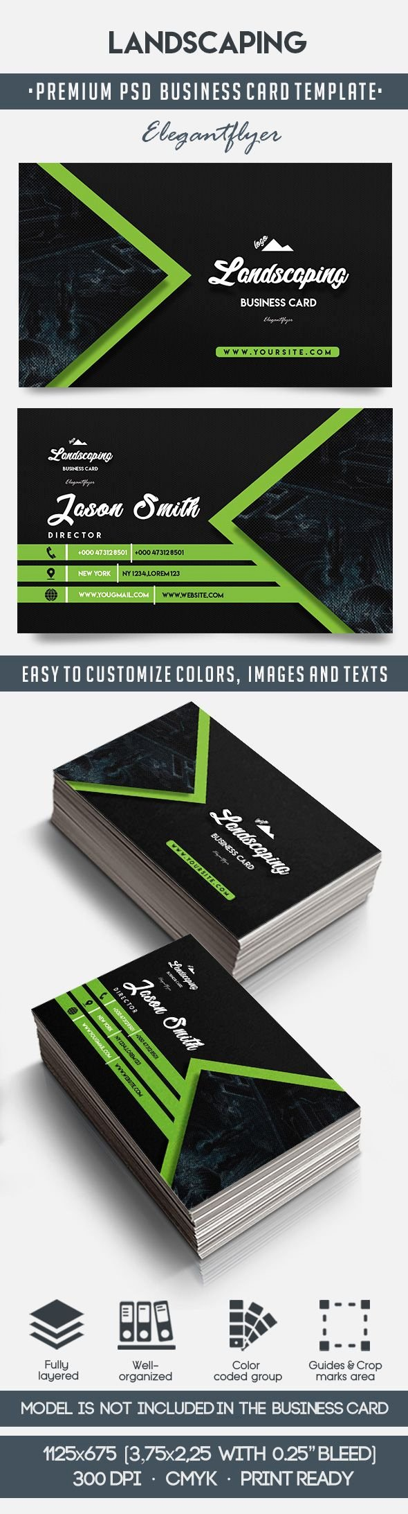 Landscaping Business Card Template Inspirational Landscaping – Business Card Templates Psd – by Elegantflyer