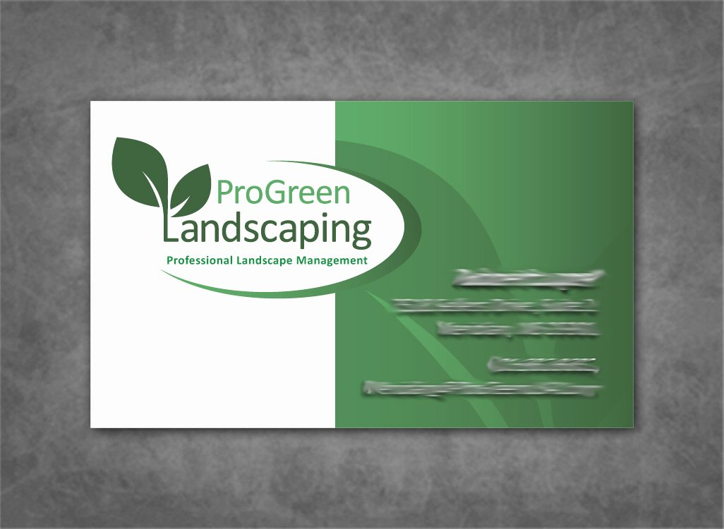 Landscaping Business Card Template New Landscaping Business Cards