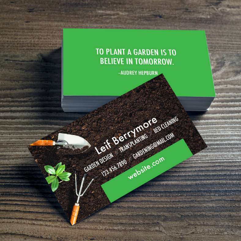 Landscaping Business Card Template Unique 15 Landscaping Business Card Templates Word Psd