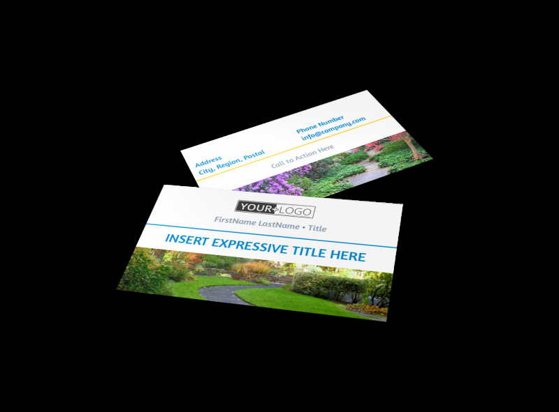 Landscaping Business Card Template Unique Beautiful Landscape Business Card Template