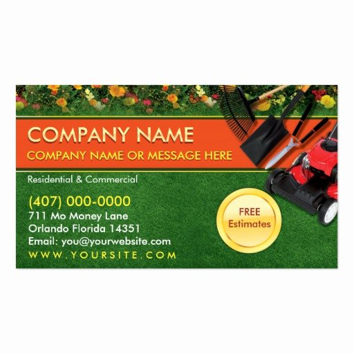 Landscaping Business Card Template Unique Landscaping Lawn Care Mower Business Card Template