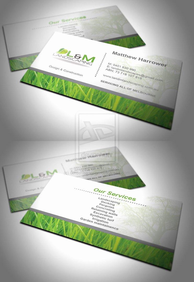 Landscaping Business Cards Ideas Beautiful L and M Landscaping Business Card by 6thsensedesign On Deviantart