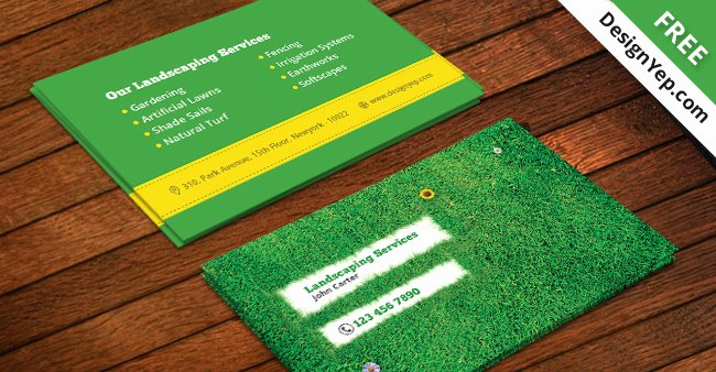 Landscaping Business Cards Templates Free Beautiful Free Landscaping Business Card Template Psd Designyep