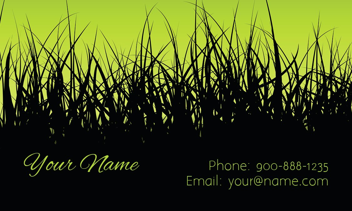 Landscaping Business Cards Templates Free Beautiful Lawn Service Black and Green Business Card Design