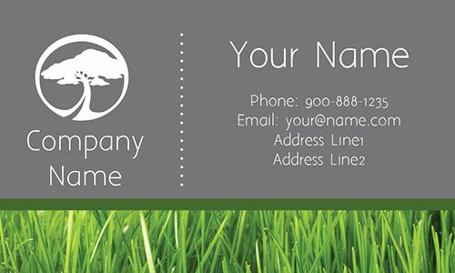 Landscaping Business Cards Templates Free Beautiful Lawn Service Grass Business Card Design