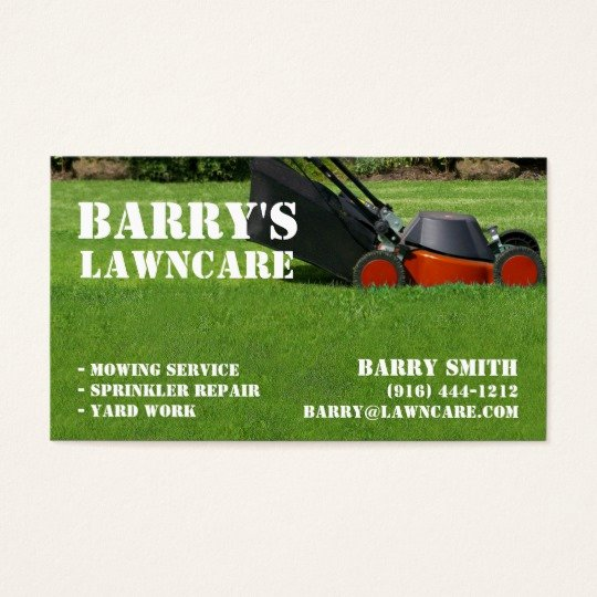 Landscaping Business Cards Templates Free Best Of Lawn Care or Landscaping Business Card