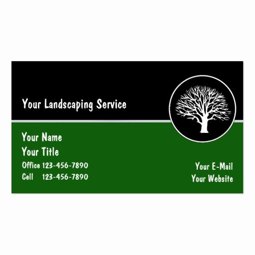 Landscaping Business Cards Templates Free Elegant Landscape Business Cards