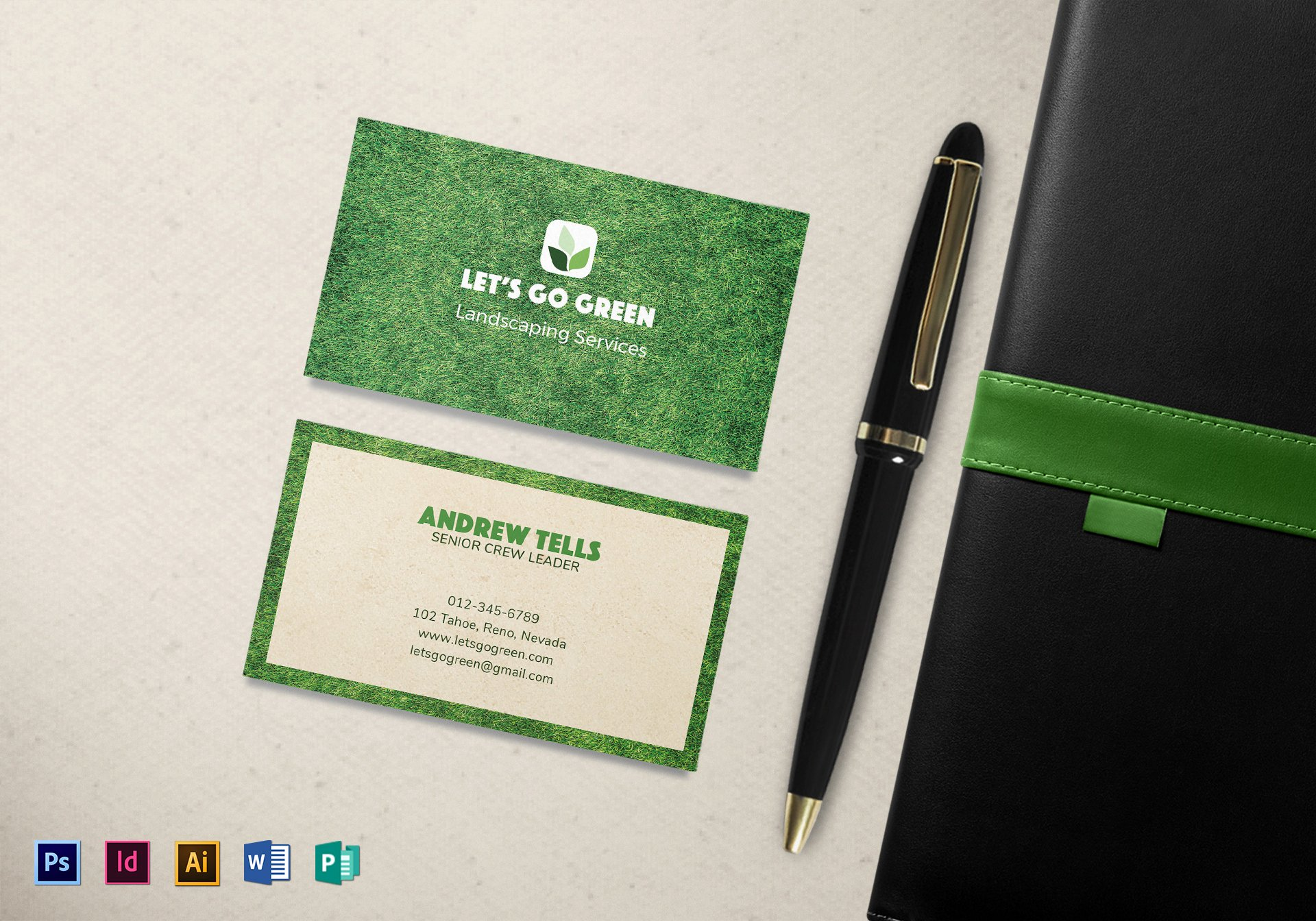 Landscaping Business Cards Templates Free Elegant Landscaping Business Card Template In Psd Word Publisher