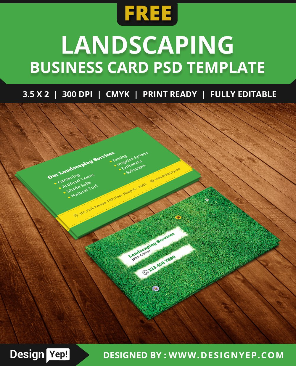 Landscaping Business Cards Templates Free Lovely Free Landscaping Business Card Template Psd Designyep
