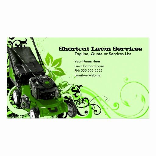 Landscaping Business Cards Templates Free Lovely Summer Lawn Services Business Card Templates