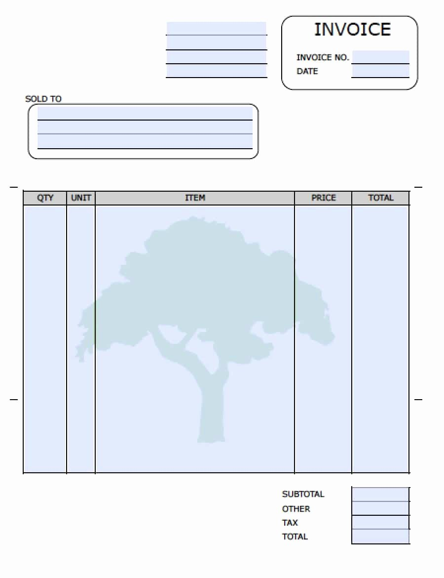 Landscaping Invoice Template Free Fresh Free Lawn Care Invoice Template