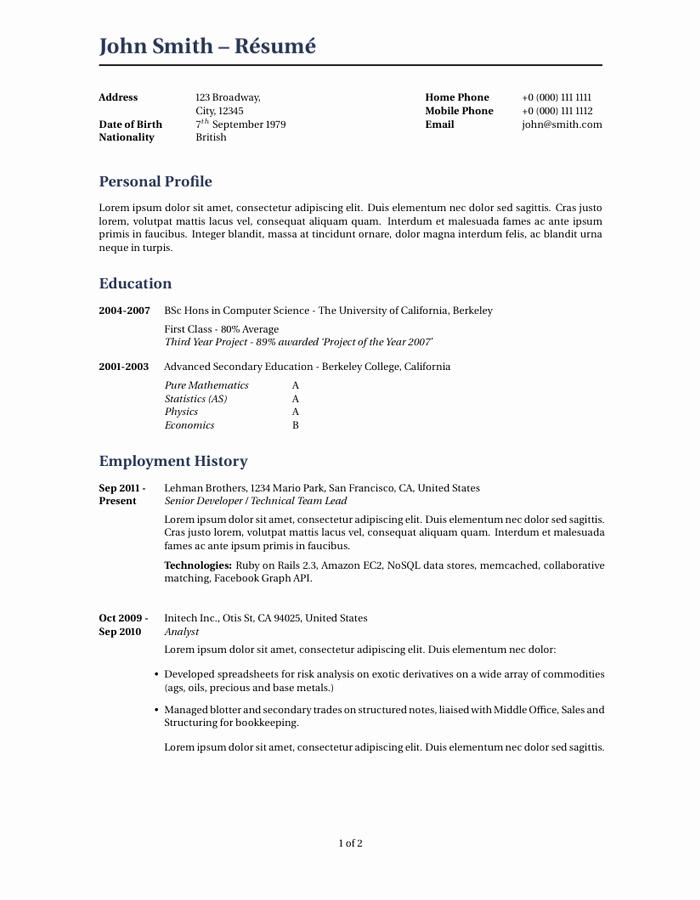 Latex Cover Letter Templates Best Of Wilson Resume Cv Latex Template Cv Templates