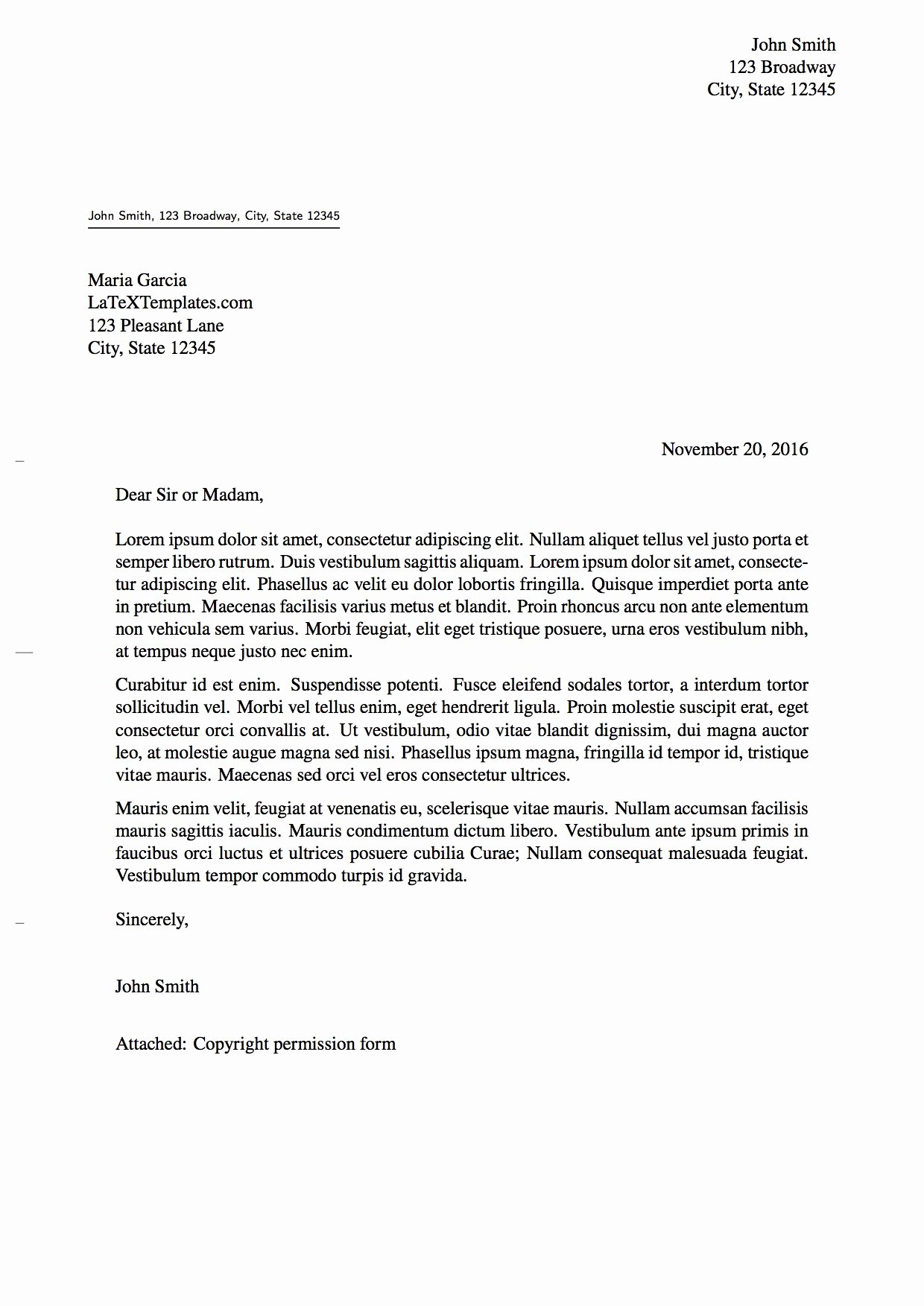 Latex Cover Letter Templates Fresh Latex Templates formal Letters