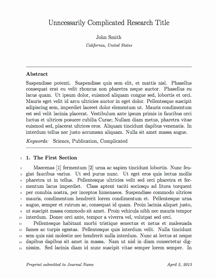 Latex Cover Letter Templates Inspirational Elsevier Publishes 2 700 Academic Journals This is their Latex Template for Authors