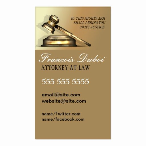 Law Firm Business Cards Awesome Gavel Lawyer attorney Law Firm Business Card