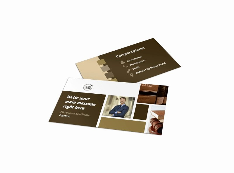 Law Firm Business Cards Inspirational Lawyer Law Firm Business Card Template