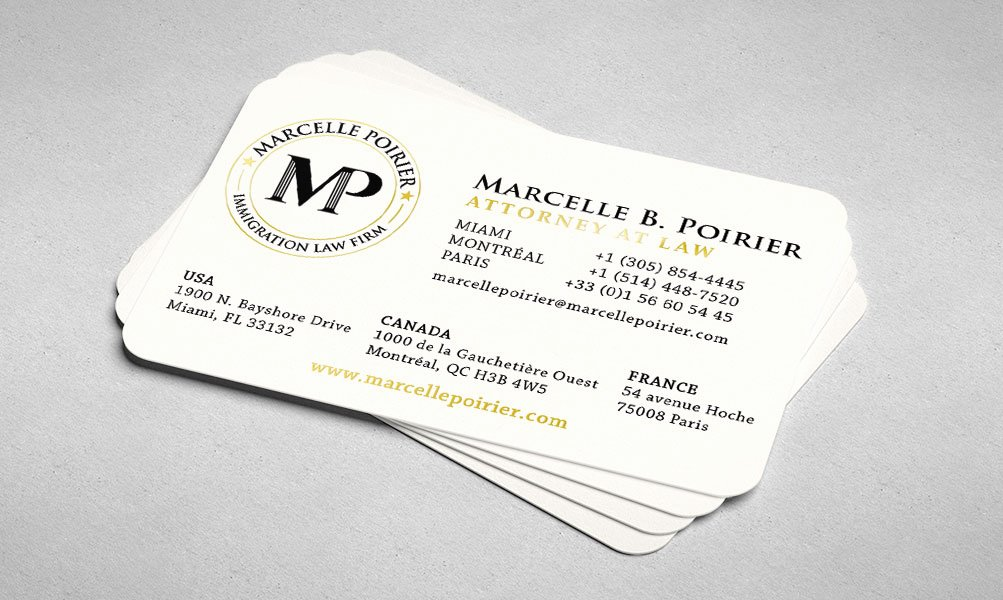 Law Firm Business Cards Luxury Marcelle Poirier 7spirit
