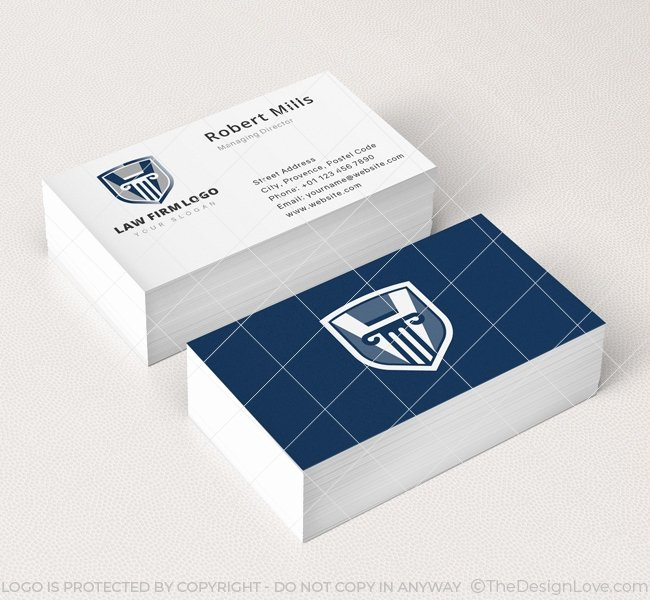 Law Firm Business Cards Unique Law Firm Logo & Business Card Template the Design Love