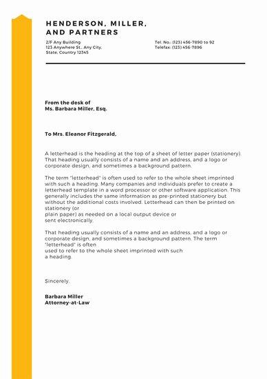 Law Firm Letterhead Templates Elegant Customize 37 Law Firm Letterhead Templates Online Canva