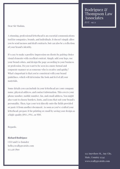 Law Firm Letterhead Templates Lovely Customize 30 Law Firm Letterhead Templates Online Canva