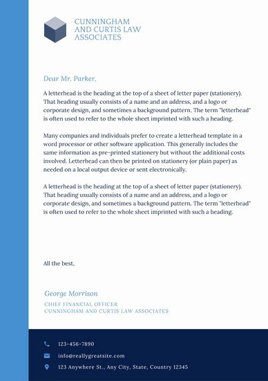 Law Firm Letterhead Templates Lovely Customize 833 Letterhead Templates Online Canva