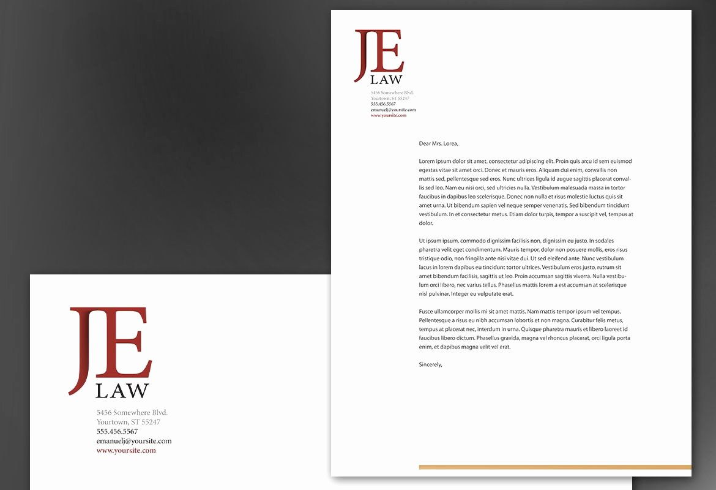 Law Firm Letterhead Templates Lovely Letterhead Template for attorney Law Firm order Custom Letterhead Design