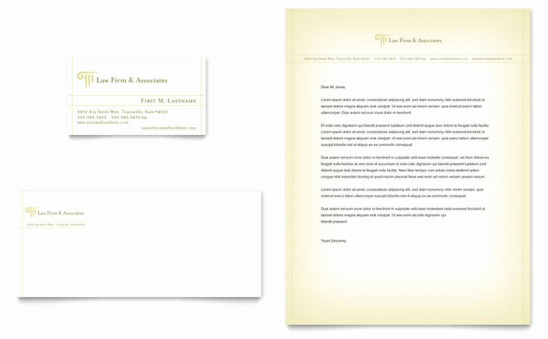 Law Firm Letterhead Templates Luxury attorney & Legal Services Business Card & Letterhead Template Word & Publisher