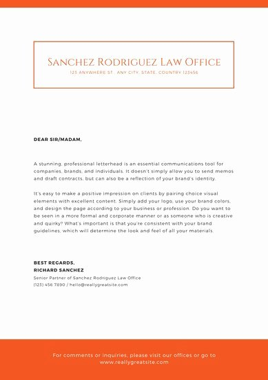 Law Firm Letterhead Templates Luxury Customize 30 Law Firm Letterhead Templates Online Canva