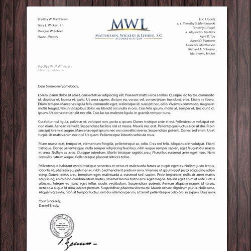 Law Firm Letterhead Templates Luxury Law Firm Letterhead for Matthiesen Wickert & Lehrer S C