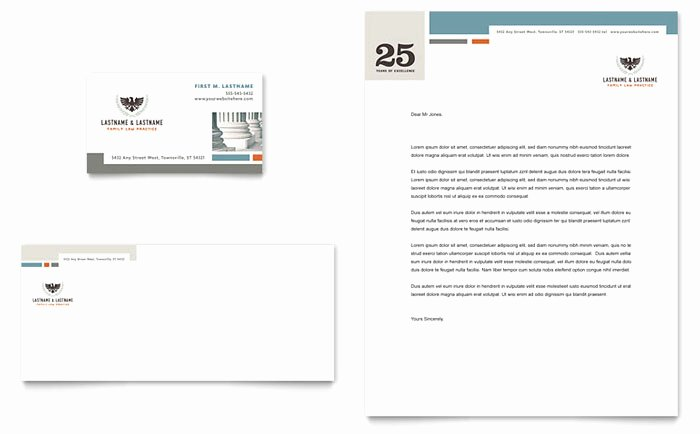 Family Law Attorneys Business Card Letterhead Template Design LG