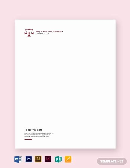 Law Firm Letterhead Templates New Letterhead Example 20 Samples In Word Pdf