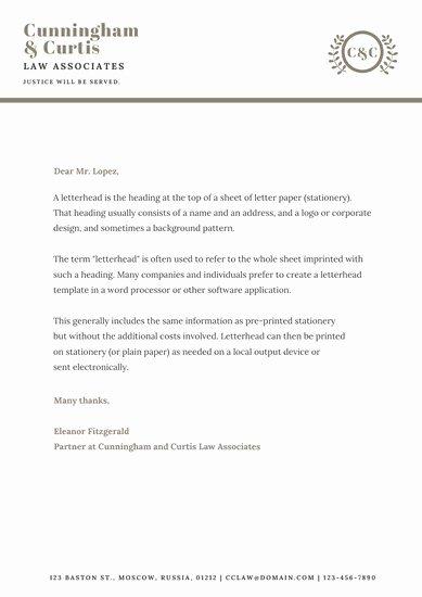 Law Firm Letterhead Templates Unique Customize 30 Law Firm Letterhead Templates Online Canva