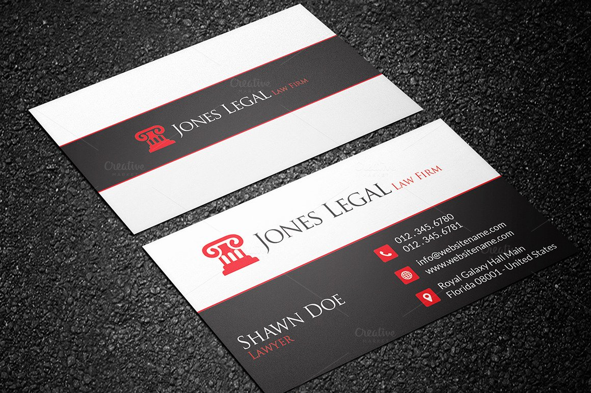 Law Office Business Cards Best Of Law Firm Business Card Template 32 Business Card Templates On Creative Market