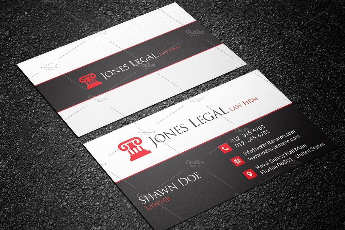 Law Office Business Cards Elegant Law Firm Business Card Template 32 Business Card Templates Creative Market