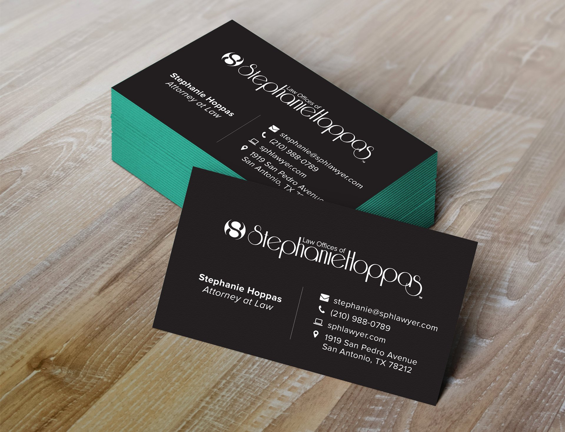 Law Office Business Cards Inspirational Identity Set for the Law Fices Of Stephanie Hoppas Concept Incarnate
