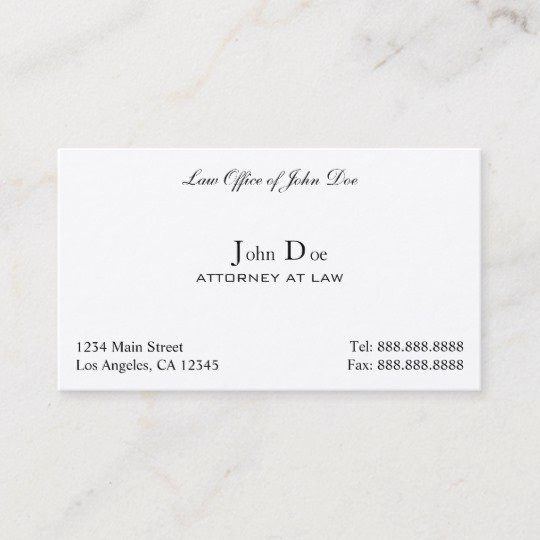 Law Office Business Cards Luxury attorney Clean Law Fice Business Card