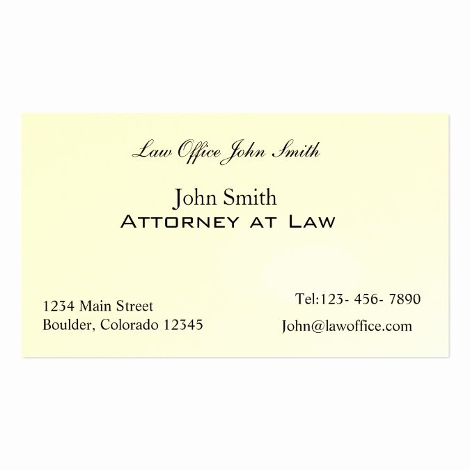 attorney at law office business card template