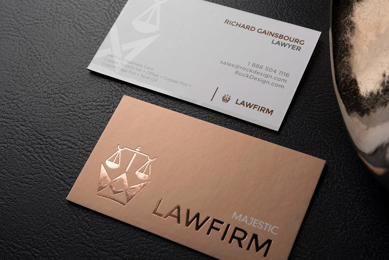 Law Office Business Cards Unique Double Sided Name Card Design Template with Spot Uv – Majestic Law Firm