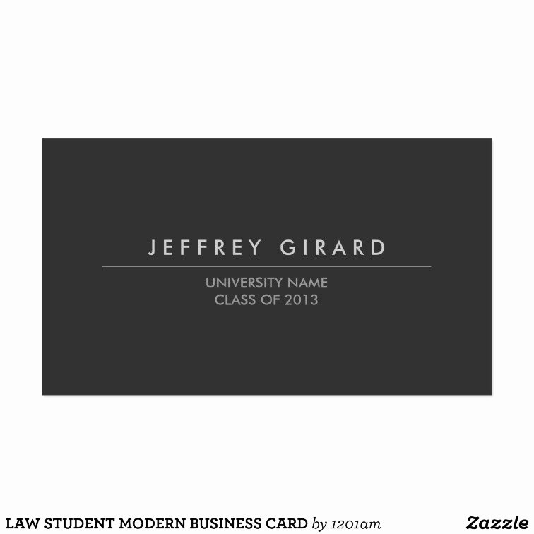 Law Student Business Cards Lovely Law Student Modern Business Card