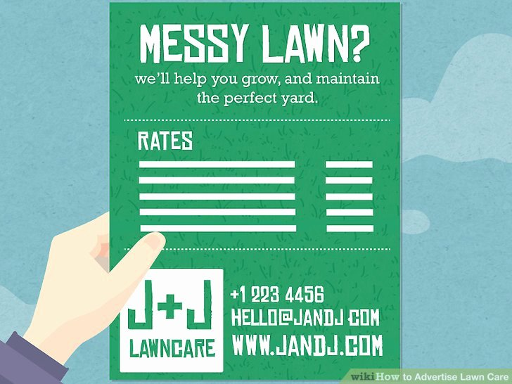 Lawn Care Advertising Flyers Beautiful 3 Ways to Advertise Lawn Care Wikihow